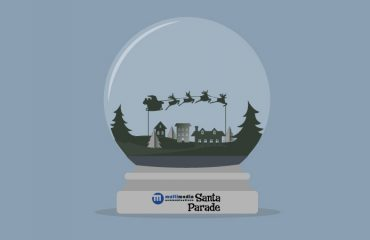 Santa Parade Snow Globe